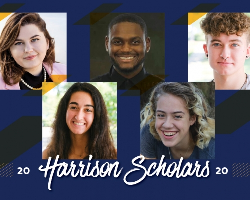 Headshots of the 5 Harrison Scholars