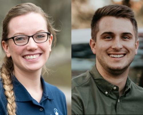 Headshots of Morgan Mallett and Chas Miller