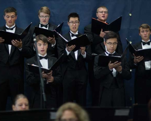 Concert Choir at inauguration