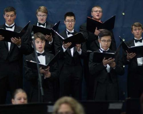 Concert Choir at inauguration