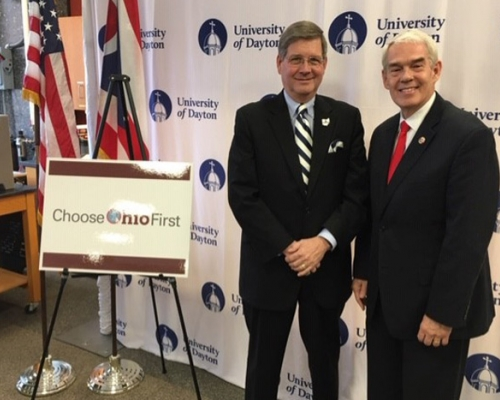 President Ruud with Chancellor Randy Gardner