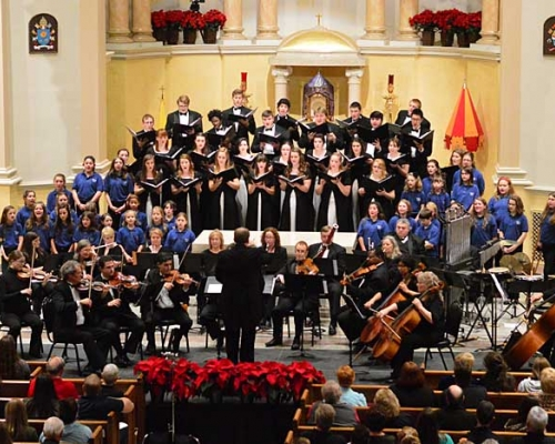 2015 Christmas with the Concert Choir overview photo