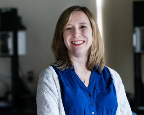Female alumna Meredith Dubelman in Rickey lab