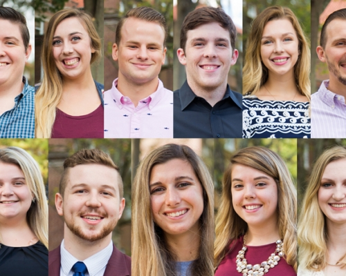 Mug shots of the 2017 homecoming court
