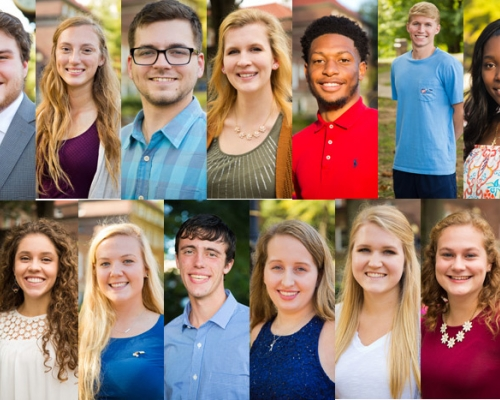 Collage of king and queen candidates