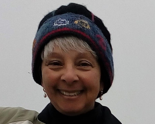 Professor Grace Johnson in winter time