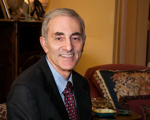 Robert Litan sitting in his office
