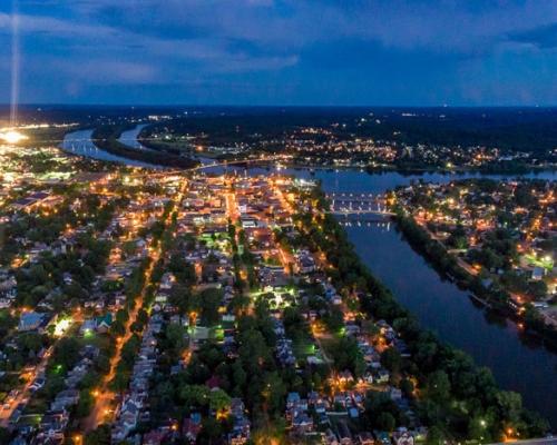 aerial photo of downtown Marietta