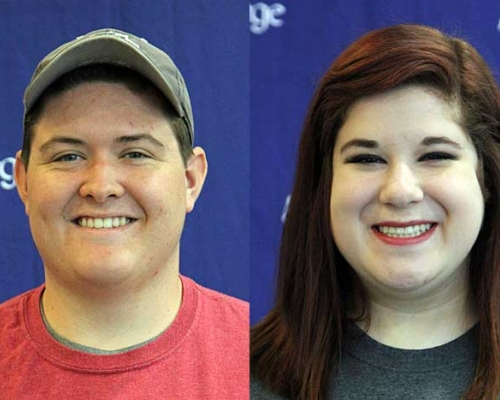 headshots of Gabe Crowe and Kayleigh Fisher