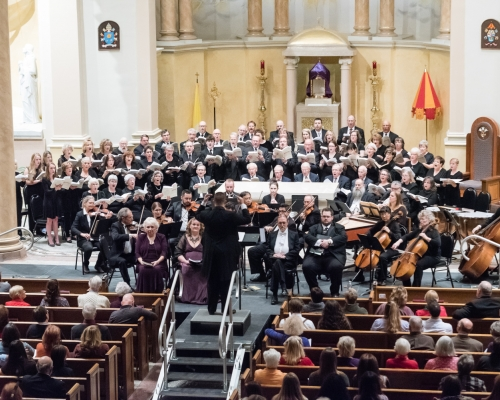 Wide angle view of Messiah performance