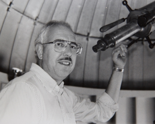John Michel at a telescope