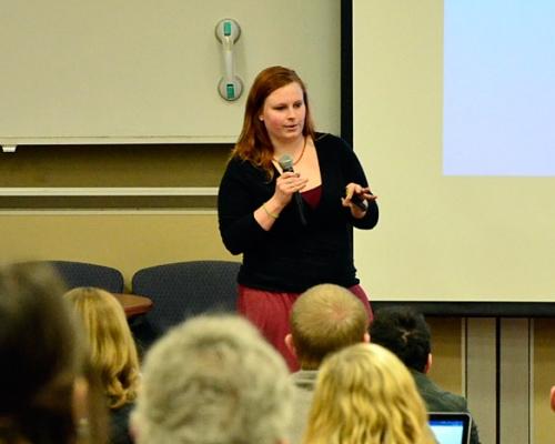 Presenter speaks at PioPitch