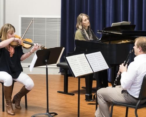 Faculty jazz trio performing