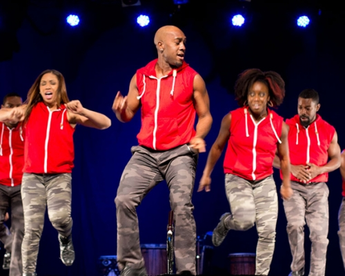 Step Afrika dancers