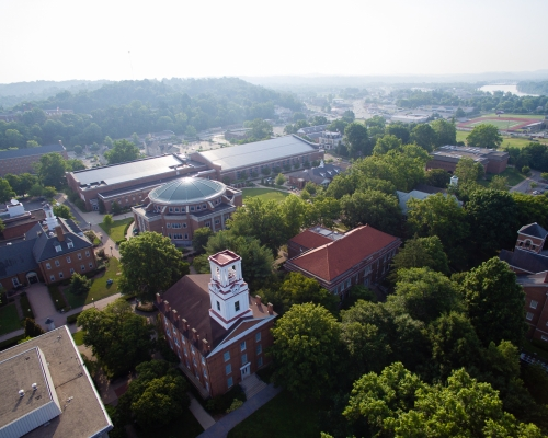 Overhead view of Marietta College Campus