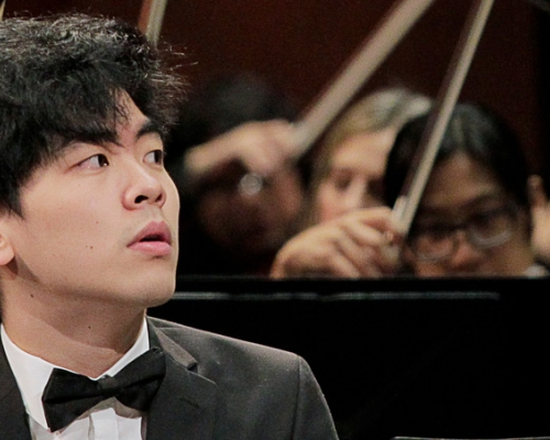 Daniel Hsu on the piano