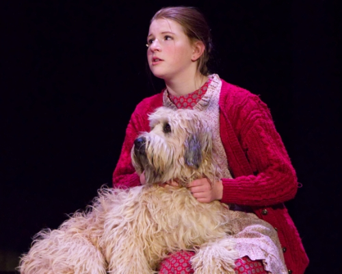 Annie with her dog