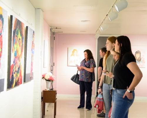 Senior Art show in 2017