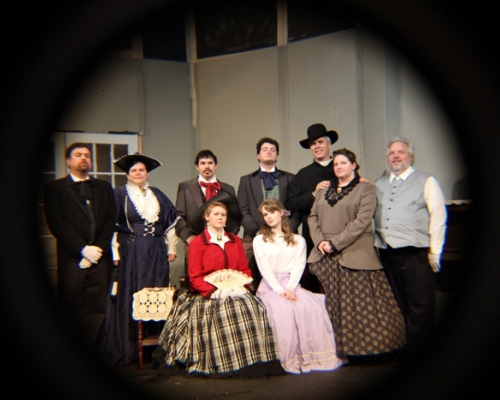 Group photo of the cast of Being Earnest