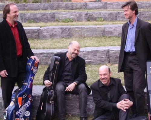 Members of Finger Lakes Guitar quartet