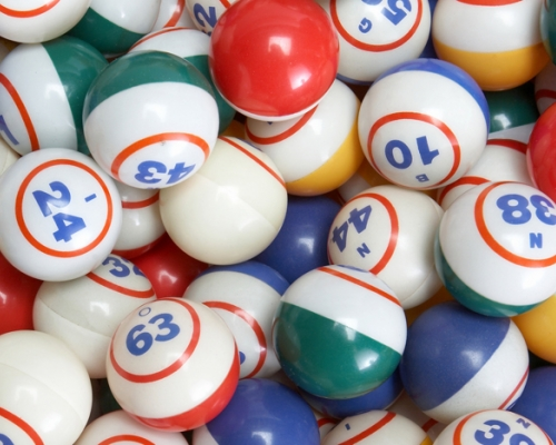 Bingo balls all together