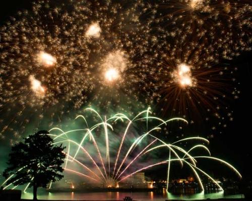 fireworks at the sternwheel festival