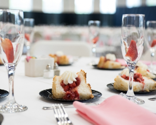 strawberries and creme dinner at Marietta College