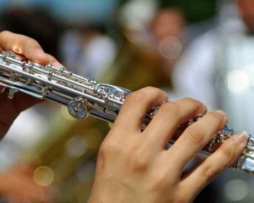 hands on a flute