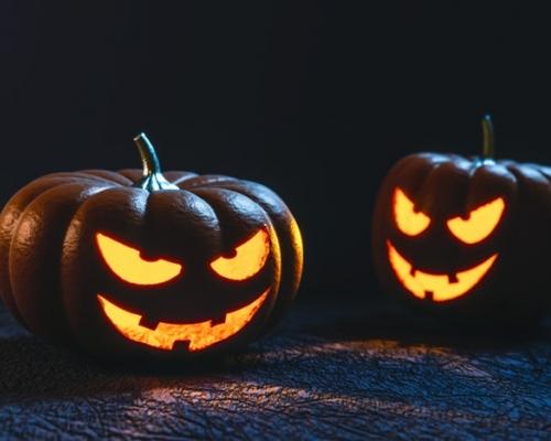 Halloween pumpkin carved