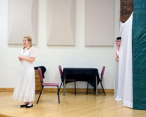 Students participating in the opera workshop