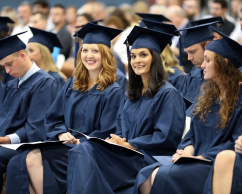 Physician Assistant students seated at graduation ceremony