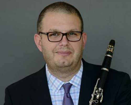 Phillip Paglialonga with clarinet