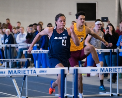 Alex Dimon racing in the hurdles at DBRC