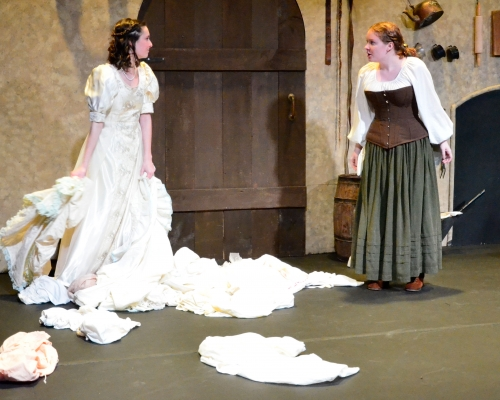 Two actresses performing at Marietta College