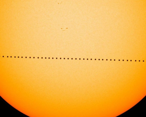 Example of the transit of mercury