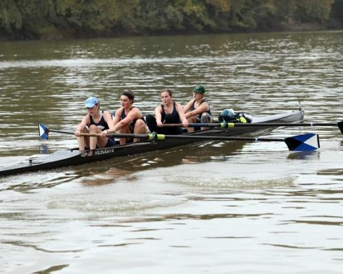 Marietta 4 rowing on the Muskingum River