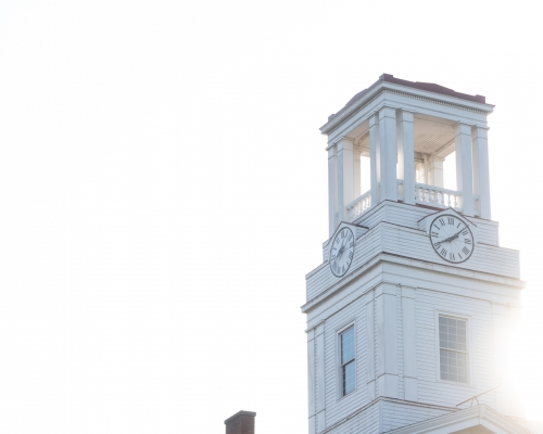 Erwin tower on the campus of Marietta College