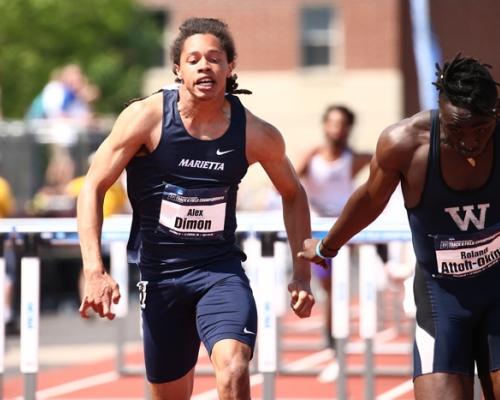 Alex Dimon running at NCAAs