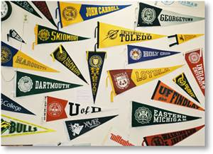 college-pennants